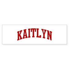 KAITLYN (red) Bumper Bumper Sticker
