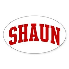 SHAUN (red) Oval Decal