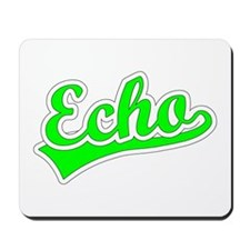 Retro Echo (Green) Mousepad
