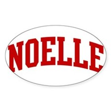 NOELLE (red) Oval Decal