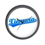 Retro Xiomara (Blue) Wall Clock