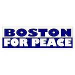 Boston for Peace (bumper sticker)
