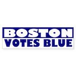 Boston Votes Blue (bumper sticker)