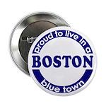 Boston: Blue Town Button (10 pack)