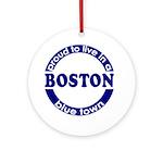 Boston: Blue Town Xmas Tree Ornament