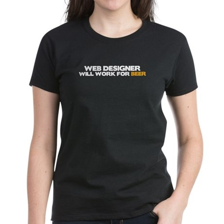 Web Designer Women's Dark T-Shirt