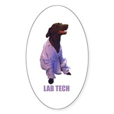 lab tech Oval Sticker (10 pk)