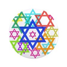 "Star of David 3.5"" Button (100 pack)"