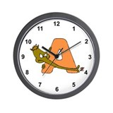 A is for Anteater Wall Clock