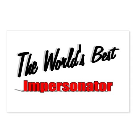 """The World's Best Impersonator"" Postcards (Package"