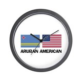 Aruban American Wall Clock