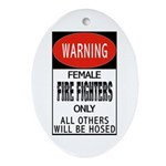 Female Fire Fighter Keepsake (Oval)