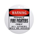 Female Fire Fighter Keepsake (Round)