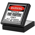 Female Fire Fighter Keepsake Box