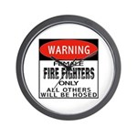 Female Fire Fighter Wall Clock