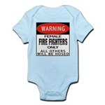 Female Fire Fighter Infant Creeper