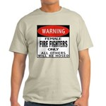 Female Fire Fighter Ash Grey T-Shirt
