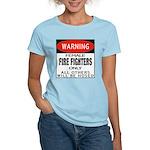 Female Fire Fighter Women's Pink T-Shirt