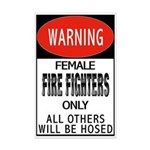 Female Fire Fighter Mini Poster Print