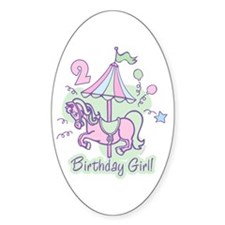 Carousel Birthday Second Oval Decal