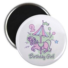 Carousel Birthday Second Magnet