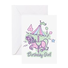 Carousel Birthday Fourth Greeting Card