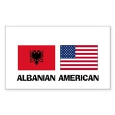 Albanian American Rectangle Decal