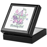 Carousel Birthday Sixth Keepsake Box