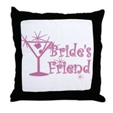 Pink C Martini Bride's Friend Throw Pillow