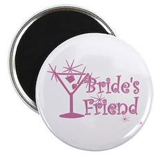 "Pink C Martini Bride's Friend 2.25"" Magnet (10 pac"