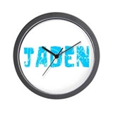 Jaden Faded (Blue) Wall Clock