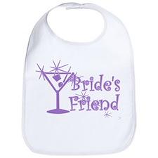 Purp C Martini Bride's Friend Bib