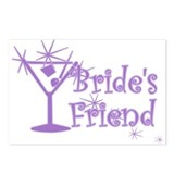 Purp C Martini Bride's Friend Postcards (Package o