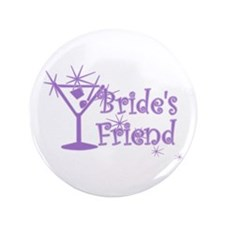 "Purp C Martini Bride's Friend 3.5"" Button (100 pac"