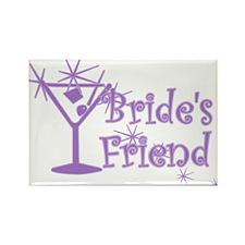 Purp C Martini Bride's Friend Rectangle Magnet (10
