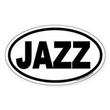 JAZZ Euro Oval Decal