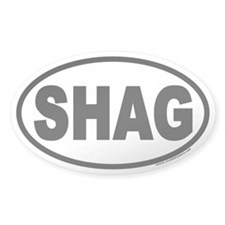SHAG Euro Oval Decal