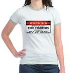 Female Fire Fighter Jr. Ringer T-Shirt