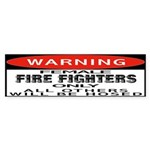 Female Fire Fighter Bumper Sticker