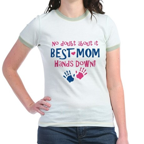 Hands Down Best Mom Jr. Ringer T-Shirt