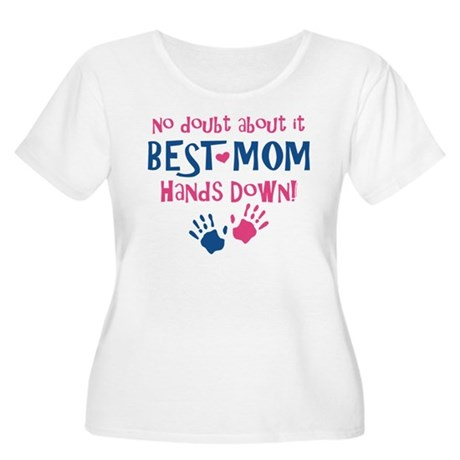 Hands Down Best Mom Women's Plus Size Scoop Neck T