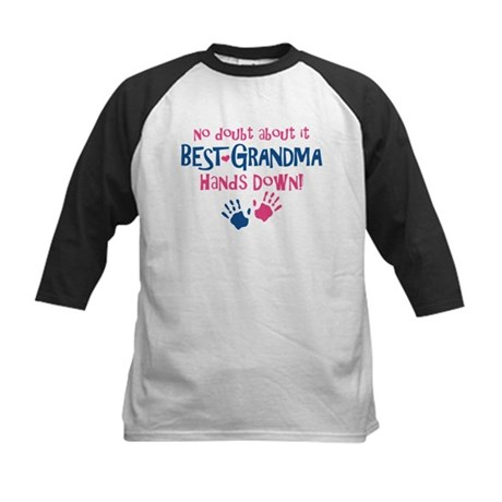 Hands Down Best Grandma Kids Baseball Jersey