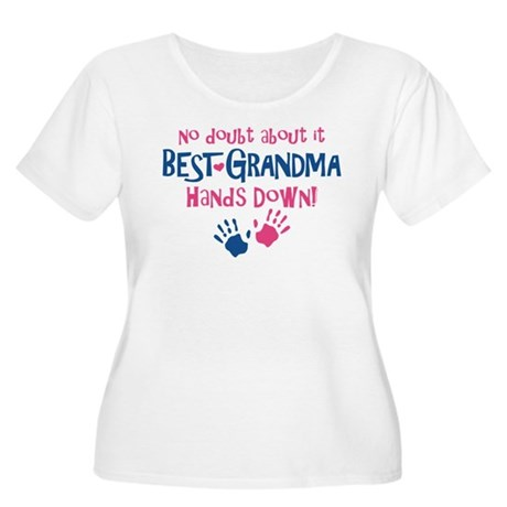 Hands Down Best Grandma Women's Plus Size Scoop Ne