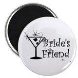 "Blk C Martini Bride's Friend 2.25"" Magnet (100 pac"