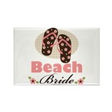 Beach Bride Wedding Rectangle Magnet