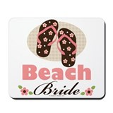 Beach Bride Wedding Mousepad