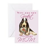 Basset Mother's Day Greeting Card