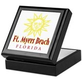Ft. Myers Beach Sun - Keepsake Box