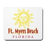 Ft. Myers Beach Sun - Mousepad