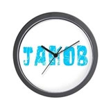 Jakob Faded (Blue) Wall Clock